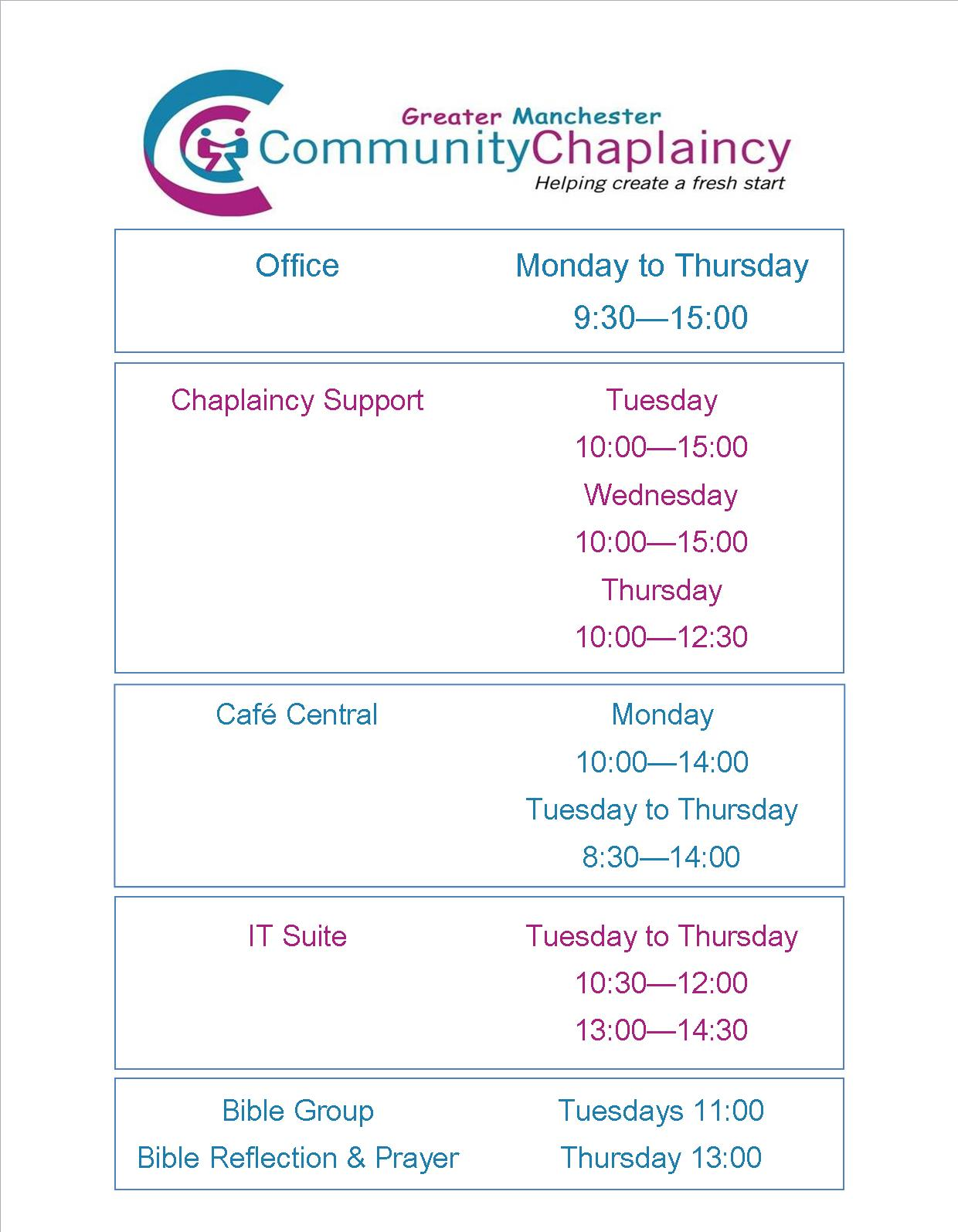Greater Manchester Community Chaplaincy – Greater Manchester